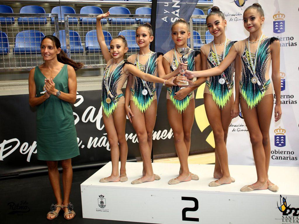 Campeonato de Canarias de Gimnasia Rítmica. Foto extraida del Facebook de la Federación Canaria de Gimnasia. Cortesía de www.fotoritmosport.com
