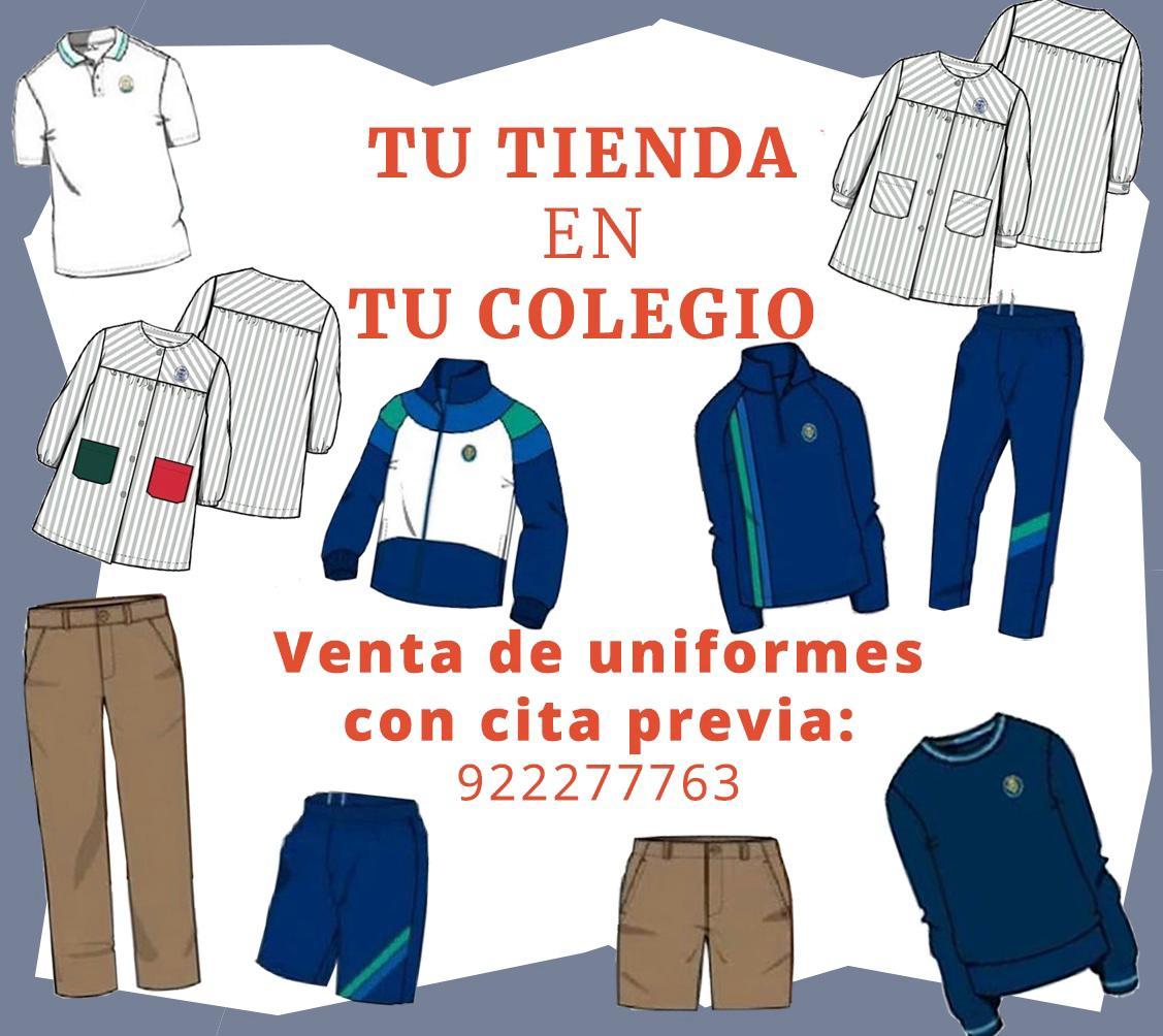 nueva tienda de uniformes de venta en el colegio